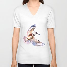 Colorful Kingfisher Unisex V-Neck
