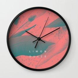 Flora rosa Wall Clock