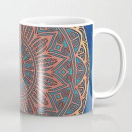 Wooden-Style Mandala Coffee Mug