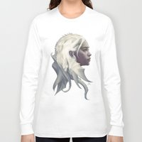mother Long Sleeve T-shirts featuring Mother of Dragons by Artgerm™