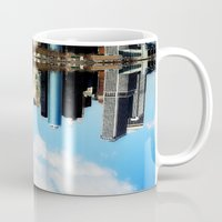 new york Mugs featuring New York New York by haroulita