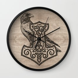 Mjolnir  - the hammer of Thor Wall Clock