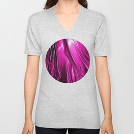 Streaming Pink Unisex V-Neck