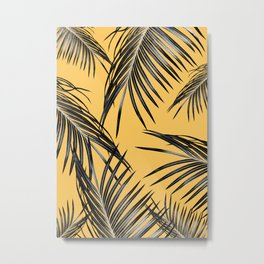 Black Palm Leaves Dream #6 #tropical #decor #art #society6 Metal Print