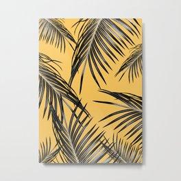 Black Palm Leaves Dream #6 #tropical #decor #art #society6 Metal Print