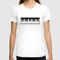piano T-shirts featuring Piano by Beitebe