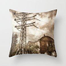 Old Powerstation Throw Pillow