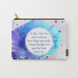 Jim Morrison's quote Carry-All Pouch