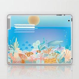 Great Barrier Reef, Australia - Skyline Illustration by Loose Petals Laptop & iPad Skin