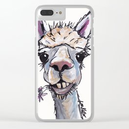 Alpaca Art, Diesel the Alpaca Clear iPhone Case