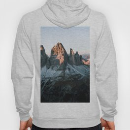 Dolomites sunset panorama - Landscape Photography Hoody