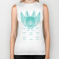 turquoise Biker Tanks featuring Turquoise by Mary Szulc