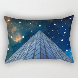 Snow in the city Rectangular Pillow