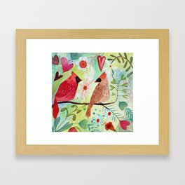 Cardinal Duo Framed Art Print