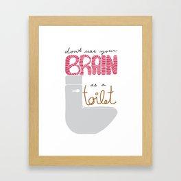Toilet Brain Framed Art Print