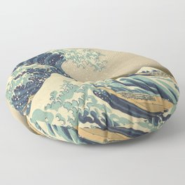 The Great Wave - Katsushika Hokusai Floor Pillow