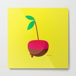 Chocolate Covered Cherry Metal Print