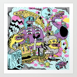 The Adventures of Rad Story Art Print