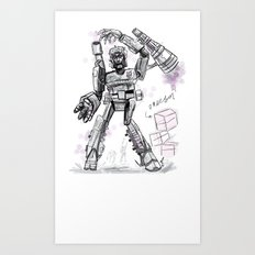 Megatron Contest Weirdo Art Print