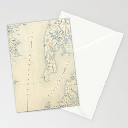 Vintage Annapolis MD & Chesapeake Bay Map (1902) Stationery Cards