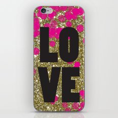 Love in Glitter iPhone & iPod Skin