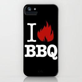 I Love BBQ iPhone Case