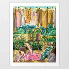Give Me 5 Minutes, The Clothes Can Wait Art Print