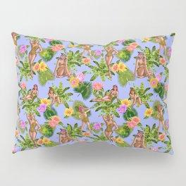 Joyful Jungle Vixens in Baby Blue Pillow Sham