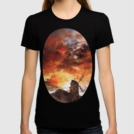 Windmill and the Sunset Sky T-shirt