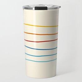 Bright Classic Abstract Minimal 70s Rainbow Retro Summer Style Stripes #1 Travel Mug