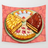 pasta Wall Tapestries featuring To each his own by Chicca Besso