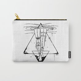 Midnight Bath - Black & White Carry-All Pouch
