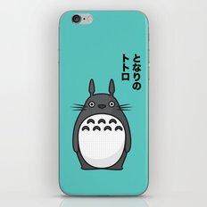 Totoro Pop Art - Blue Version iPhone & iPod Skin