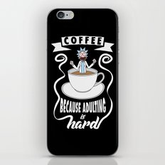 Coffee because adulting is hard iPhone Skin