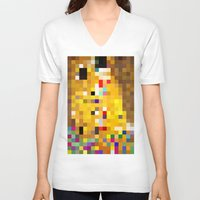 mosaic V-neck T-shirts featuring mosaic by Panic Junkie