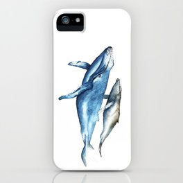 Humpback Whales Mother and Calf  iPhone Case