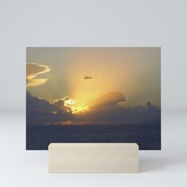 Sunset, Amalphi coast, Italy 2 Mini Art Print