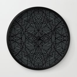 Ab Lace Black and Grey Wall Clock