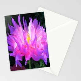 Stunning Pink and Purple Cactus Dahlia Stationery Cards