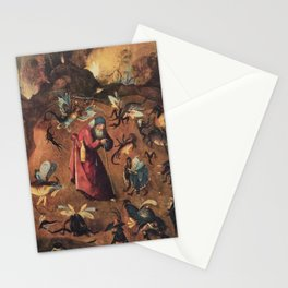 Hieronymus Bosch - Anthony with monsters Stationery Cards