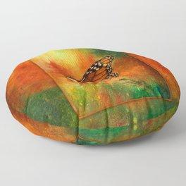 Monarch Butterfly ~ Ginkelmier Inspired Floor Pillow