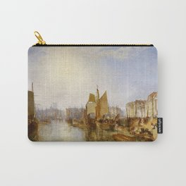 """J.M.W. Turner """"The Harbor of Dieppe"""" Carry-All Pouch"""