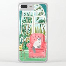 Cat Fauteuil by Veronique de Jong Clear iPhone Case
