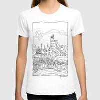 les mis T-shirts featuring Ciudad de mis amores. by SuperFlashArts!