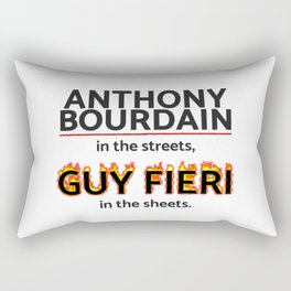 Bourdain in the Streets, Fieri in the Sheets Rectangular Pillow