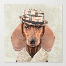 The stylish Mr Dachshund Canvas Print