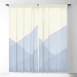 Minimal Waves of Blue Blackout Curtain