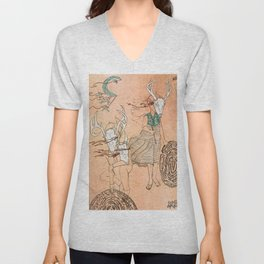 These Mazes We Carry Unisex V-Neck