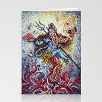 shiva Stationery Cards featuring Shiva Shakti by Harsh Malik