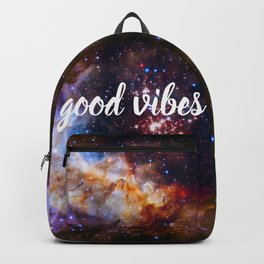Good Vibes Hubble Space Photo Carina Star Cluster Backpack
